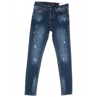 0487 Redmoon джинсы мужские с рванкой синие весенние стрейчевые (29-36, 7 ед.) REDMOON: артикул 1104411