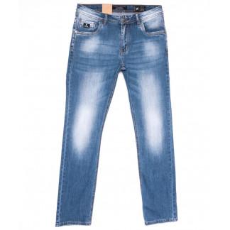 2223 Fang джинсы мужские полубатальные синие весенние стрейчевые (32-42, 8 ед.) Fang: артикул 1104515