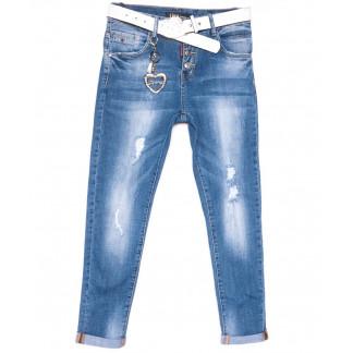 6181 Like бойфренды с рванкой синие весенние стрейчевые (25-30, 6 ед.) Like: артикул 1104526