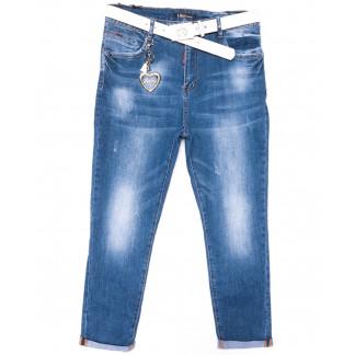 6187-3 Like бойфренды батальные синие весенние стрейчевые (30-36, 6 ед.) Like: артикул 1104528