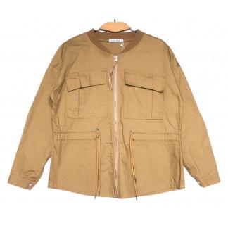 19199 Saint Wish куртка джинсовая женская коричневая весенняя коттоновая (S-2XL, 5 ед.) Saint Wish: артикул 1104855