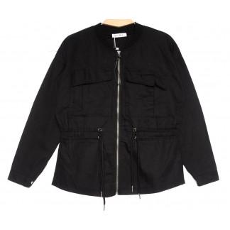 19199 Saint Wish куртка джинсовая женская черная весенняя коттоновая (S-2XL, 5 ед.) Saint Wish: артикул 1104856