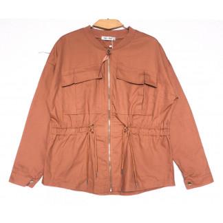 19199 Saint Wish куртка джинсовая женская коралловая весенняя коттоновая (S-2XL, 5 ед.) Saint Wish: артикул 1104859