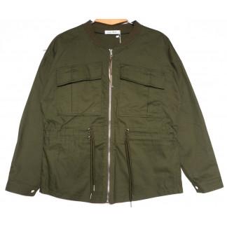19199 Saint Wish куртка джинсовая женская хаки весенняя коттоновая (S-2XL, 5 ед.) Saint Wish: артикул 1104857