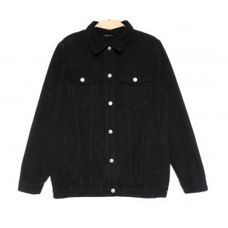 2028 Saint Wish куртка джинсовая женская черная весенняя коттоновая (S-XL, 4 ед.) Saint Wish: артикул 1104860
