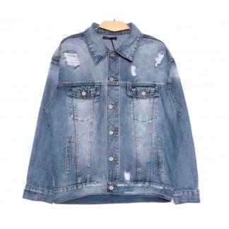 9010 Saint Wish куртка джинсовая женская синяя весенняя коттоновая (ХS-XL, 5 ед.) Saint Wish: артикул 1104862