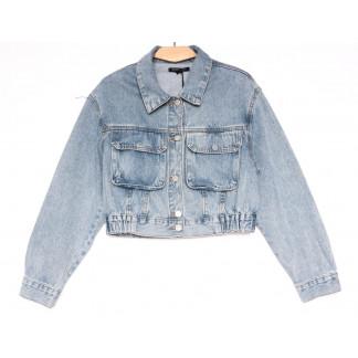 9012 Saint Wish куртка джинсовая женская синяя весенняя коттоновая (ХS-XL, 5 ед.) Saint Wish: артикул 1104864