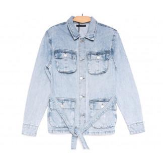 9066 Saint Wish куртка джинсовая женская синяя весенняя коттоновая (ХS-XL, 5 ед.) Saint Wish: артикул 1104866