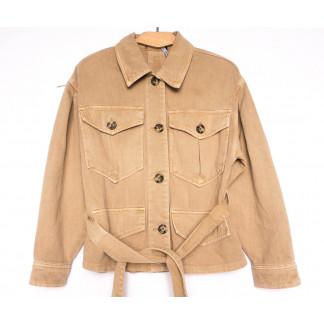 9067-7 Saint Wish куртка джинсовая женская коричневая весенняя коттоновая (ХS-XL, 5 ед.) Saint Wish: артикул 1104873