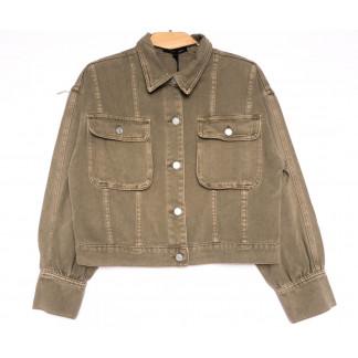 9104-11 Saint Wish куртка джинсовая женская хаки весенняя коттоновая (ХS-XL, 5 ед.) Saint Wish: артикул 1104868