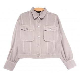9104-8 Saint Wish куртка джинсовая женская серая весенняя коттоновая (ХS-XL, 5 ед.) Saint Wish: артикул 1104870