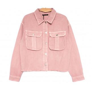 9020-2 Saint Wish куртка джинсовая женская розовая весенняя коттоновая (ХS-XL, 5 ед.) Saint Wish: артикул 1104877