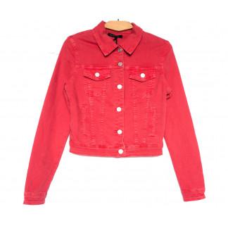 9035-9 Saint Wish куртка джинсовая женская красная весенняя стрейчевая (ХS-XL, 5 ед.) Saint Wish: артикул 1104880