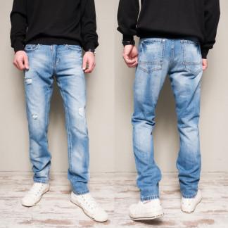 9901-3 R Relucky джинсы мужские с рванкой синие весенние стрейчевые (29-38, 8 ед.) Relucky: артикул 1104336
