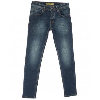 1534-1 Mewreg джинсы мужские с царапкой синие весенние стрейчевые (29-36, 8 ед.) Mewreg: артикул 1104930