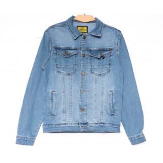 4023 Big Gastino куртка джинсовая мужская синяя весенняя стрейчевая (S-XL, 5 ед.) Big Gastino: артикул 1104934