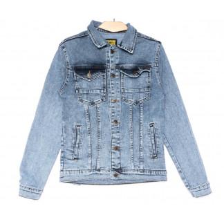 4010 K.Y Big Gastino куртка джинсовая мужская синяя весенняя стрейчевая (S-XL, 5 ед.) Big Gastino: артикул 1104935