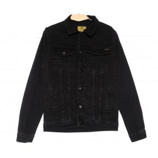 4020 Big Gastino куртка джинсовая мужская черная весенняя стрейчевая (S-XL, 5 ед.) Big Gastino: артикул 1104937