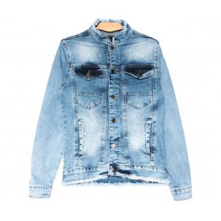3019 Big Gastino куртка джинсовая мужская синяя весенняя стрейчевая (S-XL, 5 ед.) Big Gastino: артикул 1104939