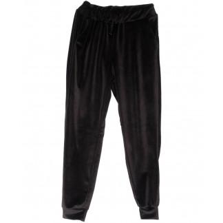 0201-44 черные Exclusive брюки женские велюровые весенние стрейчевые (42-48,норма, 4 ед.) Exclusive: артикул 1104962