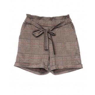 0304-44 коричневые Exclusive шорты женские в клетку (42-48, 4 ед.) Exclusive: артикул 1104978