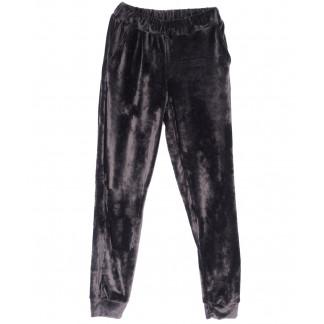 0201-44 серые Exclusive брюки женские велюровые весенние стрейчевые (42-48,норма, 4 ед.) Exclusive: артикул 1104964