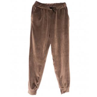 0201-44 коричневые Exclusive брюки женские велюровые весенние стрейчевые (42-48,норма, 4 ед.) Exclusive: артикул 1104965