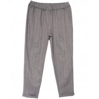 0257-50 светло-серые Exclusive брюки женские в клетку весенние стрейчевые (50-54, 3 ед.) Exclusive: артикул 1104953