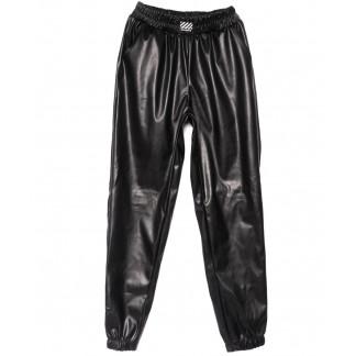 0203-42 Exclusive брюки кожаные черные весенние стрейчевые (42-46,норма, 3 ед.) Exclusive: артикул 1104977