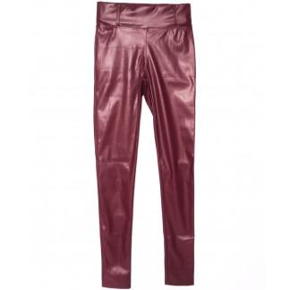 0619-42 Exclusive лосины кожаные красные весенние стрейчевые (42-46,норма, 3 ед.) Exclusive: артикул 1104976