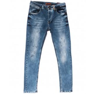 5602 Redcode джинсы мужские с царапкой синие весенние стрейчевые (29-36, 8 ед.) Redcode: артикул 1104996