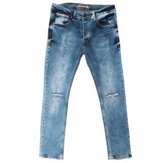 4389 Redcode джинсы мужские с рванкой синие весенние стрейчевые (29-36, 8 ед.) Redcode: артикул 1105003