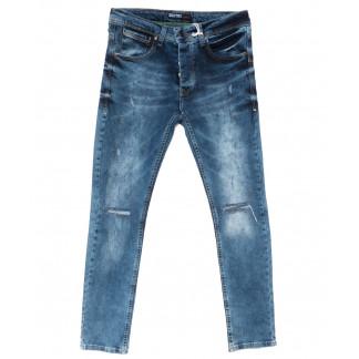 4391 Destry джинсы мужские с рванкой синие весенние стрейчевые (29-36, 8 ед.) Destry: артикул 1105005