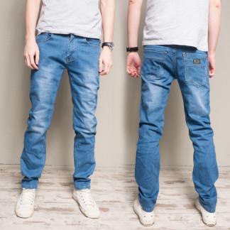 6005 Pobeda джинсы мужские полубатальные синие весенние стрейчевые (32-38, 8 ед.) Pobeda: артикул 1105209