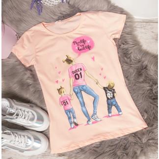 3013-2 пудровая футболка женская псо стразами стрейчевая (S-L, 3 ед.) X: артикул 1105310
