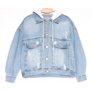 8051 Zijinyan куртка джинсовая женская синяя весенняя коттоновая (S-XL, 6 ед.) Zijinyan: артикул 1105362