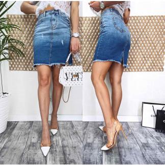 3725 New Jeans юбка джинсовая синяя весенняя коттоновая (25-30, 6 ед.) New Jeans: артикул 1105137