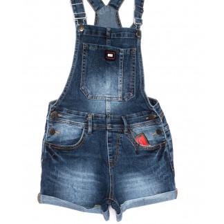 6611-2 Y Relucky комбинезон-шорты джинсовый женский синий летний стрейчевый (25-30, 6 ед.) Relucky: артикул 1105398