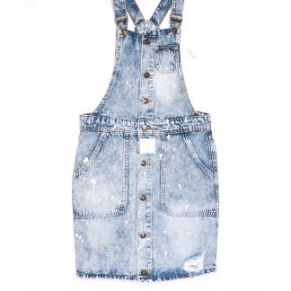 3301-5 Y Relucky сарафан джинсовый голубой весенний котоновый (25-30, 6 ед.) Relucky: артикул 1105406