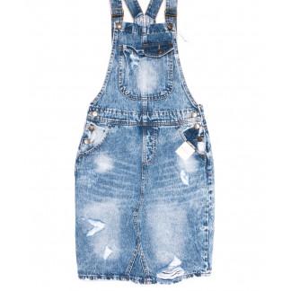 3306-5 Y Relucky сарафан джинсовый синий весенний котоновый (25-30, 6 ед.) Relucky: артикул 1105407