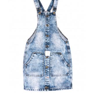 0240-4 Y Relucky сарафан джинсовый голубой весенний котоновый (25-30, 6 ед.) Relucky: артикул 1105409