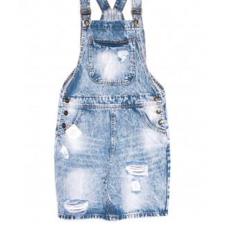3307-5 Y Relucky сарафан джинсовый голубой весенний котоновый (25-30, 6 ед.) Relucky: артикул 1105410