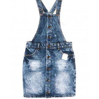 3300-5 Y Relucky сарафан джинсовый синий весенний котоновый (25-30, 6 ед.) Relucky: артикул 1105415