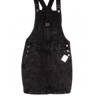 3312-5 Y Relucky сарафан джинсовый темно-серый весенний котоновый (25-30, 6 ед.) Relucky: артикул 1105416