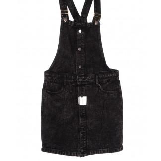 3310-5 Y Relucky сарафан джинсовый темно-серый весенний котоновый (25-30, 6 ед.) Relucky: артикул 1105422