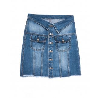 9900-5 V Relucky юбка джинсовая синяя весенняя стрейчевая (25-30, 6 ед.) Relucky: артикул 1105431
