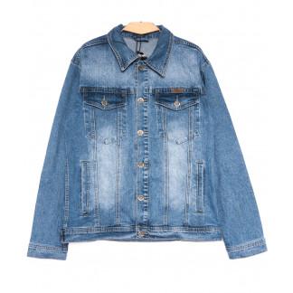 0348 Longli куртка джинсовая мужская полубатальная синяя весенняя стрейчевая (XL-5XL, 5 ед.) Longli: артикул 1105432