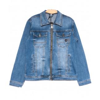 0357 Longli куртка джинсовая мужская синяя весенняя стрейчевая (S-2XL, 5 ед.) Longli: артикул 1105435