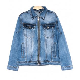 0364 Longli куртка джинсовая мужская синяя весенняя стрейчевая (S-2XL, 5 ед.) Longli: артикул 1105436