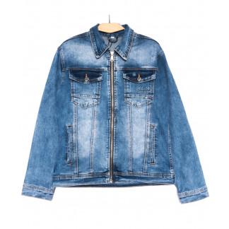 0346 Longli куртка джинсовая мужская синяя весенняя стрейчевая (S-2XL, 5 ед.) Longli: артикул 1105440